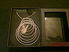 Hoops And Bunny Silver Colour Playboy Necklace
