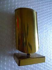 pENCIL HOLDER GOLD METAL ATOMIC SLEEK DESKTOP ACCESSORY TAIWAN ROC VTG neocurio