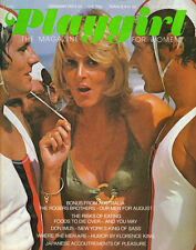 PLAYGIRL August 1974 nude brothers TOGETHER! Don Imus ROGERS BROTHERS centerfold