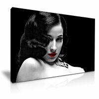 Dita Von Teese Sexy Modern Wall Art Canvas Print Framed ~ Red Lips Many Size