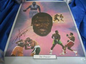 Joe Frazier JSA Authenticated Autographed Lithograph Poster !!!!!