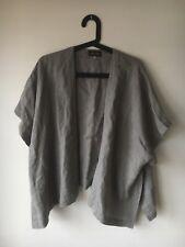 Eskandar Linen Silk Open Cardigan Top
