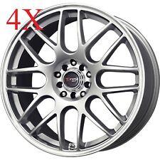 Drag Wheels DR-34 14x5.5 4x100 4x114 Silver Rims For Colt Metro Mirage Corolla