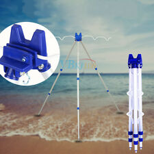Alloy Telescopic Sea Beach Fishing Rods Tripod Stand Rest Hold 5 Rods Outdoor