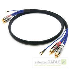 RCA NF Cable Teléfono 2m negro verano 2 + 1x 0,35mm ² conexión a tierra DORADO