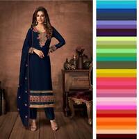 Ethnic Pakistani Salwar Kameez Anarkali Bollywood Party Wear Shalwar Suit Kleid