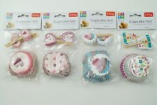 Muffin Förmchen Cupcake Set aus Papier mit Schildern 96 tlg. Set