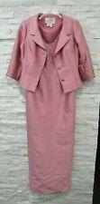 Teri Jon Pink Quartz Wool Silk Formal Beaded Evening Gown & Jacket 4