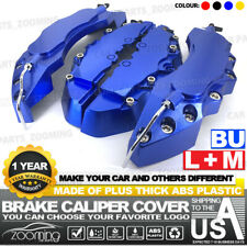 4Pcs Dark blue Brake Caliper Covers Style Disc Universal Car Front Rear Kits L+M