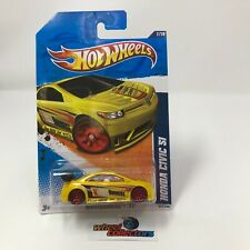 Honda Civic Si #117 * Yellow * 2011 Hot Wheels * HB23