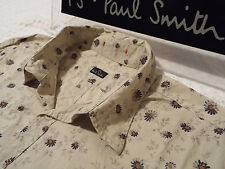 "PAUL SMITH Mens Shirt 🌍 Size L (CHEST 40"") 🌎 RRP £95+ 📮 FLORAL LIBERTY DAISY"