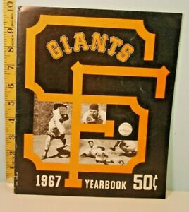 1967 San Francisco Giants Baseball Yearbook Mays, McCovey, Perry