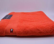 Tommy Hilfiger Bath Towel In Orange Cotton Brand New Genuine Item With Tags