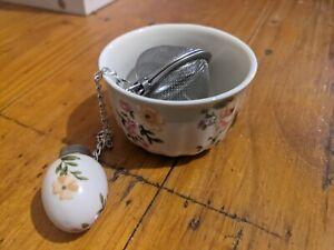 Tea Infuser Set Pottery Ceramic Robert Gordon Floral Roses Pink Liberty