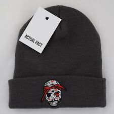 Actual Fact Tupac 2PAC Skull Hip Hop Rapper Red White Yellow Graphite Beanie Hat