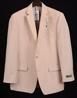 NEW Bobby Jones Tailored Clothing Tan Linen Wool Blend Sport Coat Jacket 42 R