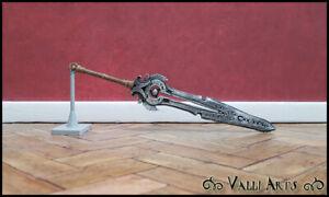 Miniature Tirith Sword - Black, Lt Brown & Silver - OOAK - Accessory - Diorama
