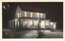GRANDVIEW, JACKSON COUNTY, MO, WYCKOFF CLINIC, NIGHT VIEW, RPPC, used 1941