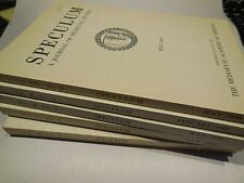 Speculum. A Journal of Medieval Studies. Lot of 5 Various Issues 1979-1983