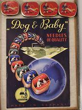 WERBEBLATT DOG & BABY NEEDLES FA. MARSCHALL UND 4 NADELDOSEN
