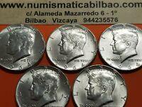 1 moneda x 1/2 DOLAR 1964 P KENNEDY Estados Unidos KM#202 USA Half Silver Dollar