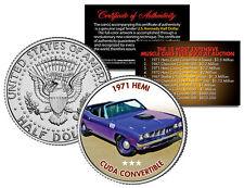 1971 HEMI CUDA CONVERTIBLE Expensive Auction Muscle Car JFK Half Dollar US Coin