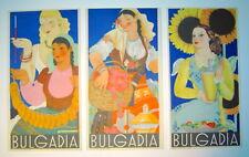 BULGARIA - 3 dépliants touristiques - 1937
