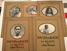 Toutes les races Beauté du corps Humain Complet 5 N° - E. Troubat 1931