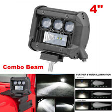 1Pcs 4Inch 80W Square LED Work Light Bar Spot Flood Beam Offroad Driving Lights