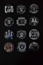 Oakland Raiders - 1 Inch Buttons - Set of 12 (>>Free Shipping<<)
