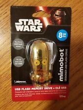Disney Mimoco Mimobot C-3PO 8GB Designer USB Flash Drive New! Sealed!