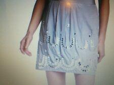 Anthropologie mirrored horseshoe mini skirt, size 6, nwt