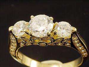333 Gold  Ring mit 55 gefaßten Zirkonia Steinen  Größe 58
