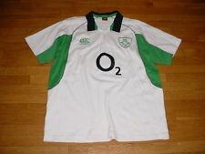 Vtg Canterbury Ireland Irish Rugby IRFU Jersey/Shirt SEWN-ON Mens 2XL/XXL Nice!