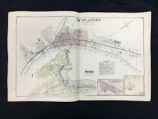 1877 Atlas Map of Duncannon, Marysville & Saville Twp. Perry County Pennsylvania