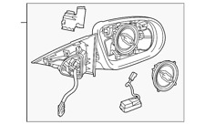 Genuine Mercedes-Benz Mirror Assembly 205-810-18-05