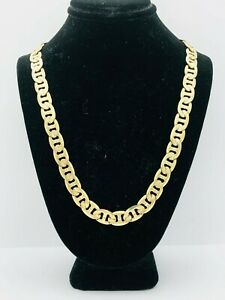18K Yellow Gold Plating STAINLESS STEEL 8 mm Gucce & Figaro  Link  Necklace