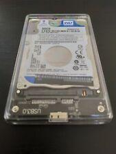 Disco duro externo 500GB HDD WD5000LPVX USB 3.0 WesternDigital Trasparente