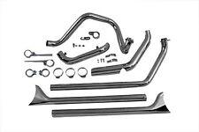 "1970-1984 Harley Davidson SHovelhead True Dual Exhaust Pipes System Fishtail 42"""
