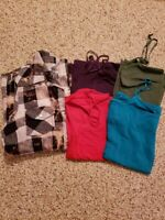 Lot of 5 Women's shirts: Flannel and 4 camis Sz L  Jak/Zenana Outfitters