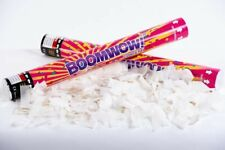 WHITE Confetti Paper Cannon 45cm AUST Birthdays Celebrations