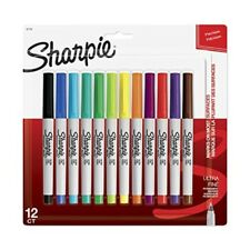 Ultra Fine Tip Point Sharpie Pen Colored Marker Thin Sharpy Black Skinny Red New