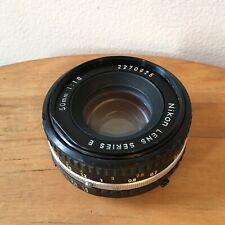 Nikon 50mm F/1.8 Series E Manual Focus Lens  Pancake - Good Cond.