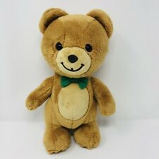 "GUND Kraft Peanut Butter Teddy Bear Green Bow Tie 10"" plush stuffed  2015"