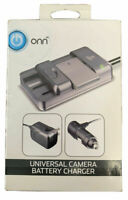 ONN Universal Camera Battery Charger Wall & Car Adapters For Lithium-lon Battery