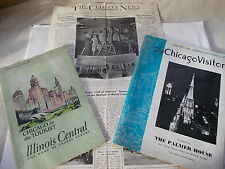 3 items of Paper Ephemera of Chicago From The 1930's - The Chicago Visitor etc.