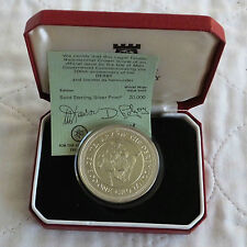 ISLE OF MAN 1980 BICENTENNIAL OF THE DERBY SILVER PROOF CROWN - boxed/coa