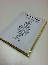 16 Colored Transparent Sheets with Adhesive, 3 x 4 Inch Sample Pack Swatch Book