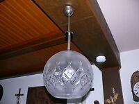 70er Jahre Lampe prunkvolle Kristall Deckenlampe gemarkt