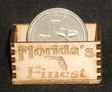 Dollhouse Miniature Florida's Finest Produce Crate 1:12 Vegetable Fruit Market